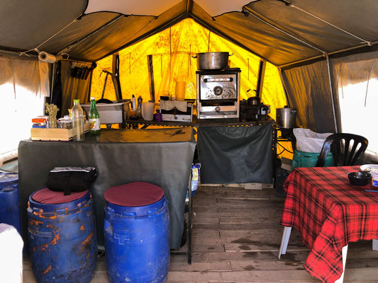Griselda's kitchen in basecamp