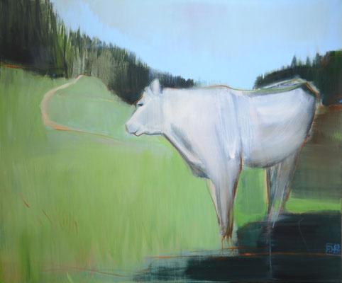 White cow 03/20 100X120CM