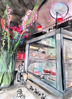Viadukt, 30x40cm, ink and aquarelle on paper ----sold