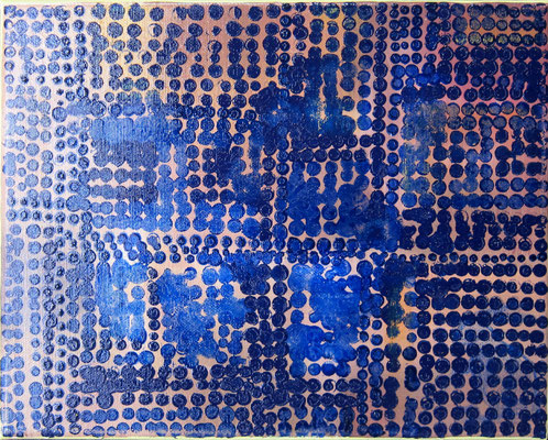 BLUE YELLOW GOLD 4 06/2014 24X30CM