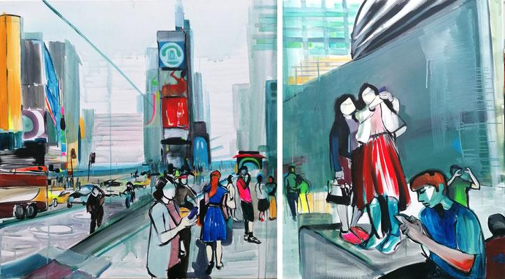 NEW YORK CITY I 09/20 zweiteilig 100X100CM + 80X100CM