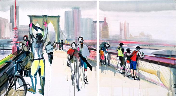 NEW YORK CITY II 09/20 zweiteilig 100X100CM + 80X100CM