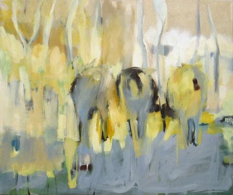 DREI SCHAFE 03/2009 100X120CM---SOLD