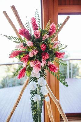 Fleurs mariage île de la réunion