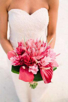 Bouquet fleurs mariage ile de la réunion