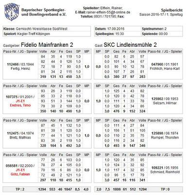 1.Spieltag - 17.09.2016