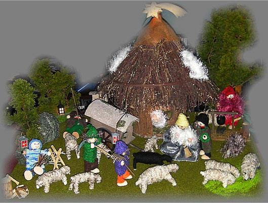 Krippe nach einer Inspiration zu den Schafskrimis von Leonie Swann