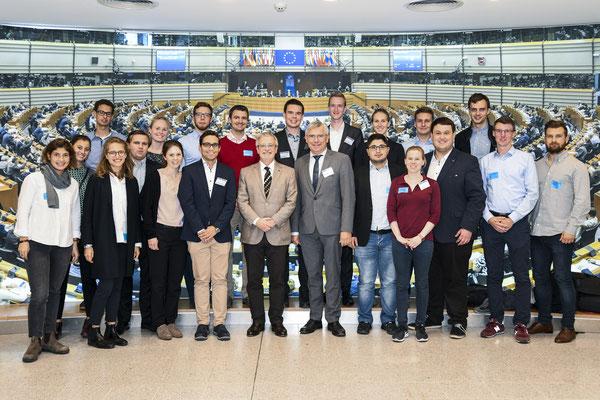 Besuch von Stipendiaten der Konrad-Adenauer-Stiftung am 16. Oktober.