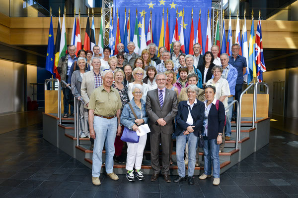 Besuch einer Gruppe der Jumelages Européens PTT am 17. Mai 2017.