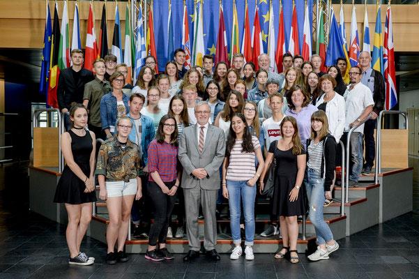 Besuch einer Jugendgruppe aus Michelstadt am 14. Juni 2017.