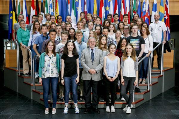 Besuch einer Gruppe der Leibnizschule aus Wiesbaden am 13. Juni 2017.