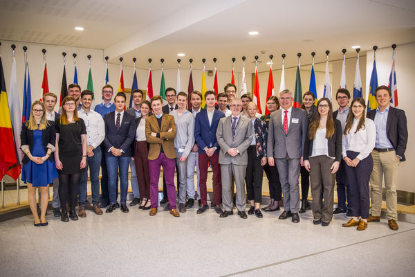 Besuch einer Gruppe von Stipendiaten der Konrad-Adenauer-Stiftung am 27. März 2017.