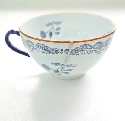 Tasse en porcelaine Gintsugi.
