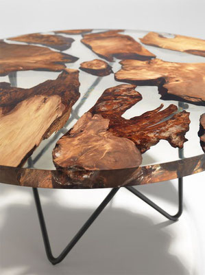 Earth Table en Resine et bois