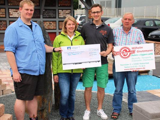 Unglaubliche 2.500 Euro spendete die Firma Wilhelm Gnutzmann, Dohrn + Eggers