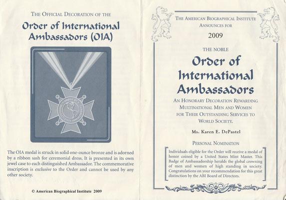 2009 - Order of International