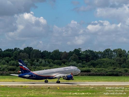 """Ein Airbus der """"Aeroflot"""" aus Russland"""