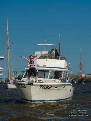 """Die """"Titanic"""" war natürlich auch bei der Einlaufparade !"""