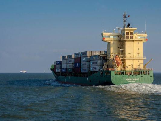 Die Nordic Philip, ein Feederschiff