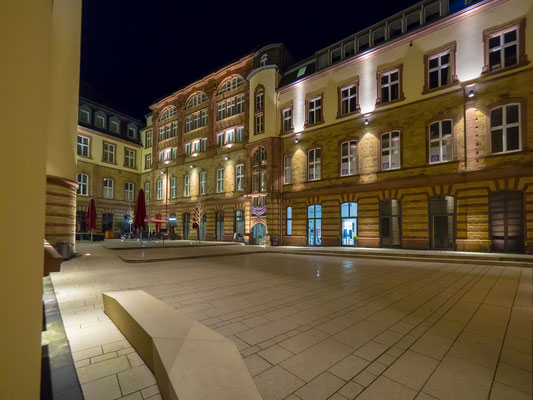 Der Innenhof des Posthofes.