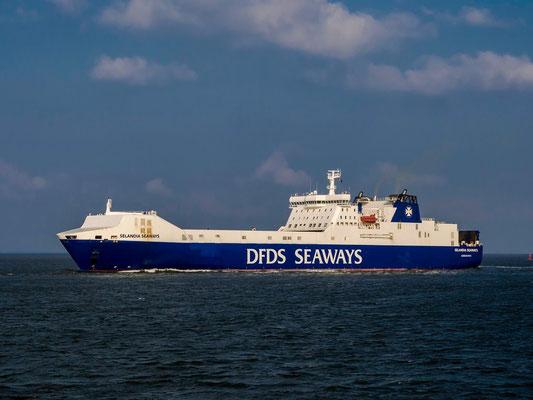 Die Selandia Seaways, ein R/o Schiff der DFDS