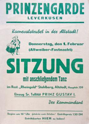 Plakat Sitzung 1951