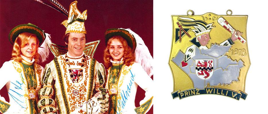 1978 Willi V., Willi Hentges - Prinzenorden