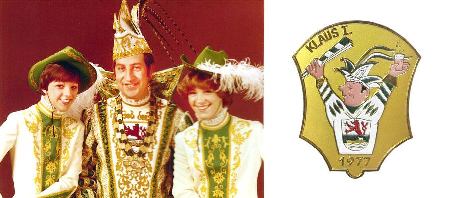 1977 Klaus I., Klaus Geressen - Prinzenorden