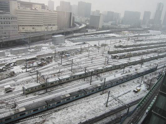 S48 磯上壮太郎 雪の日の品川新駅用地