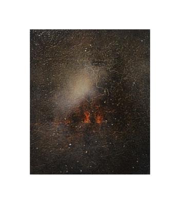 月沈む音 2016 Oil,wax,mineral pigment on lawn with plaster stretched wood panel ×(cm)