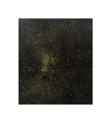 鏡の森 / Forest of Mirrors 2016 Oil,wax,mineral pigment on lawn with plaster stretched wood panel 53×46(cm)