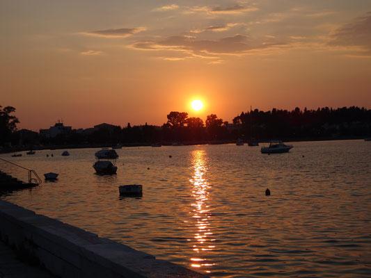 Sunset in the Garitsa Bay