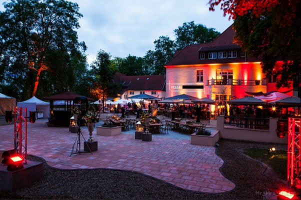 500 Gäste Party, Villa Rhein Perle