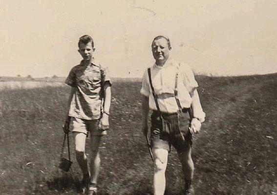 1956: H. Hasselmann und C. Ewers, Foto: von H. Hasselmann