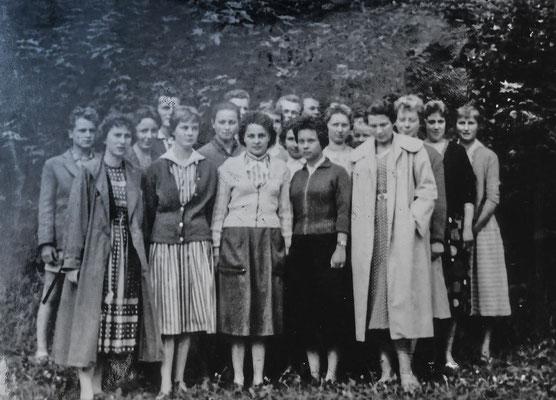 1958: Klassenfahrt der 11. nach Weimar, Foto von W. Holtermann