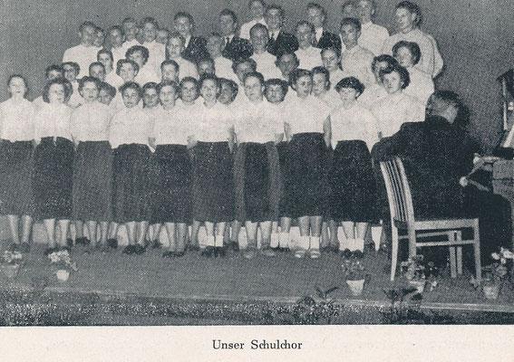 ca. 1956: Schulchor, Foto O. Hauck