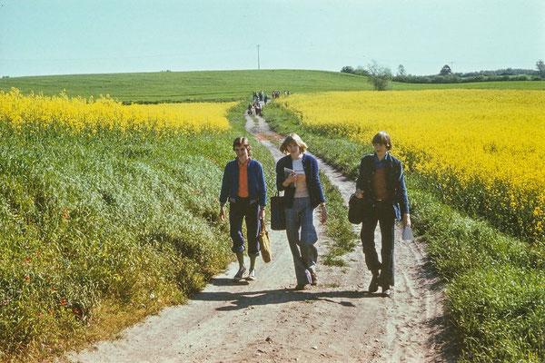 1977: Der Gang durch die blühende Landschaft war ein Erlebnis.