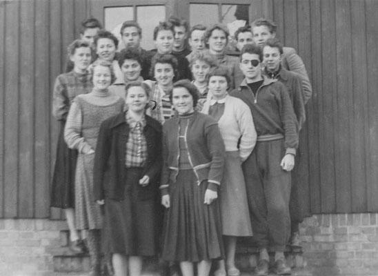 1957: Klasse 12 B1 vor dem Abi, Foto: von H. Hasselmann