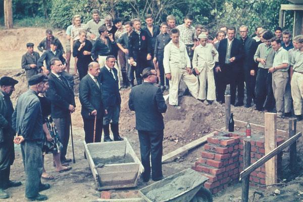 Grundsteinlegung am 17.09.1963