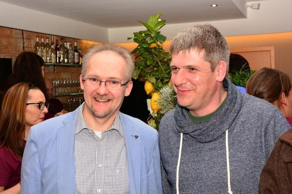 Der Bürgermeister von Wettenberg Thomas Brunner und der Pächter des Wißmarer Sees Mike Will