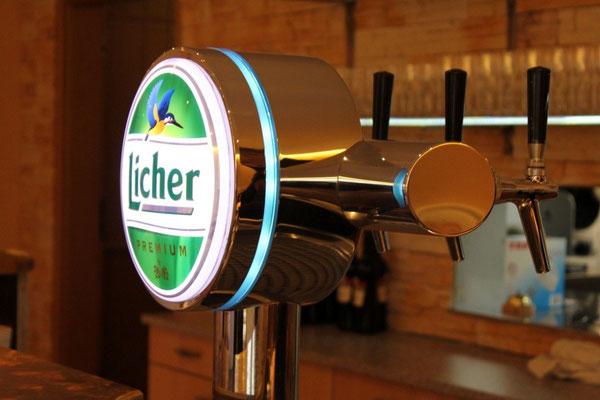 Licher Bier im Restaurant Zum Kormoran am Wißmarer See