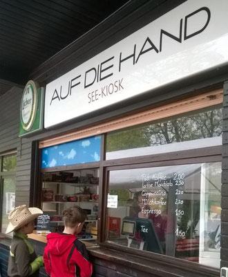 See-Kiosk Auf die Hand am Wißmarer See