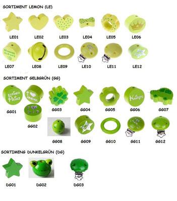 Sortiment grün