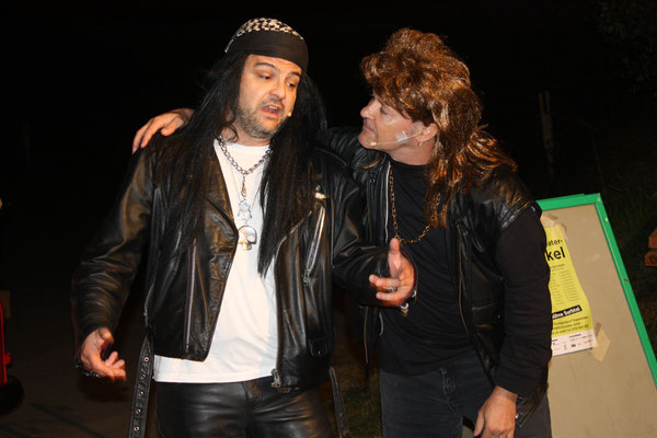 Die beiden Rocker Leonard und John