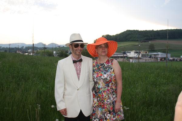 Monika Wirz und Christof Brändli spielen im Stück ein Ehepaar aus Zürich