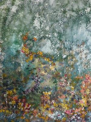 Ohne Titel, Acryl/Steinmehl auf Leinwand, 40 x 50 cm, 2018