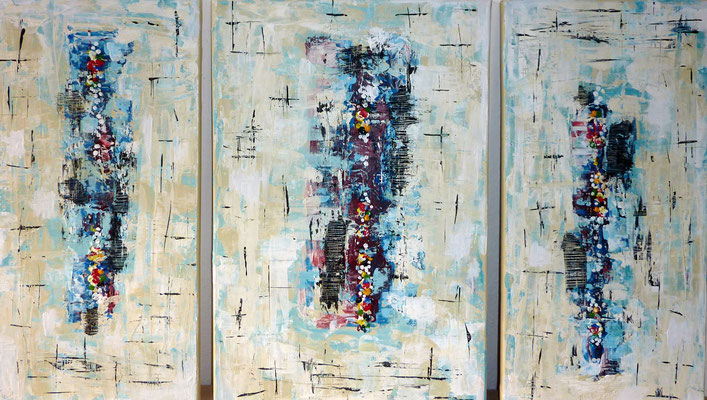 """Triologie"" Acryl auf Leinwand, 60 x 100 cm, 2020"