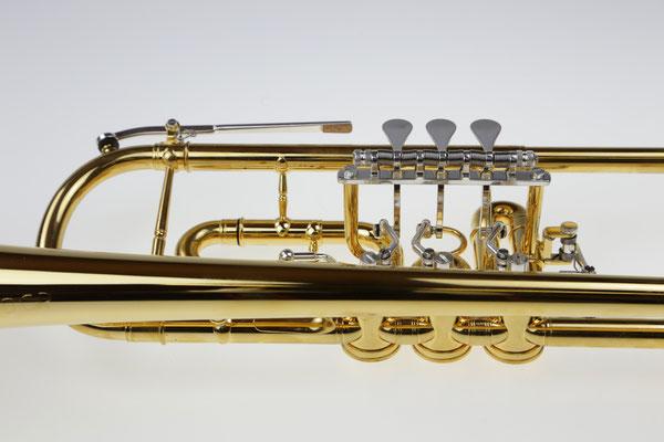 Konzerttrompete, vergoldet