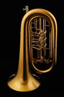 Bassflügelhorn, matt vergoldet