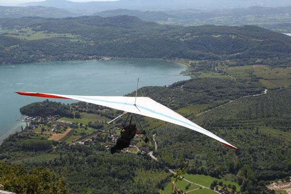 vol sur le lac du Bourget